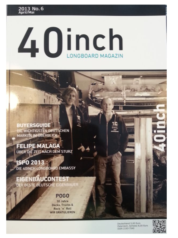 40inch Longboard Magazin Ausgabe 6 (April/Mai 2013)