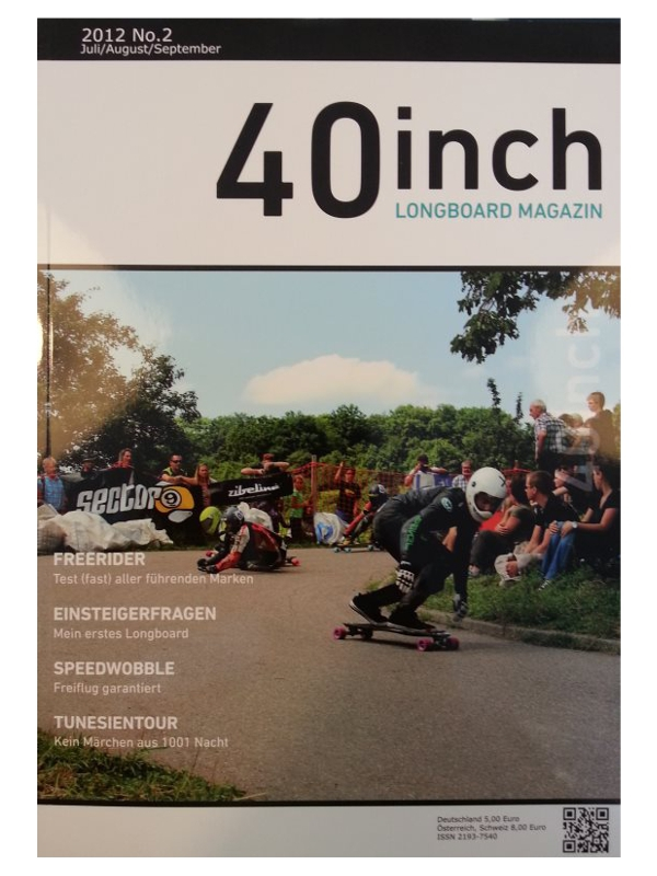 40inch Longboard Magazin Ausgabe 2 (Juli/August/September 2012)