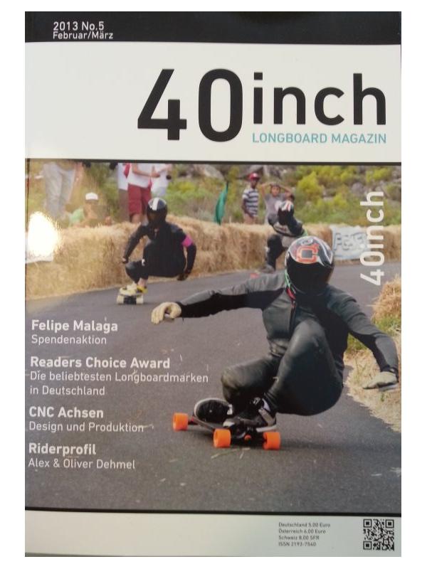 40inch Longboard Magazin Ausgabe 5 (Februar/März 2013)