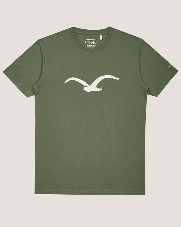Cleptomanicx Möwe T-Shirt (thyme)